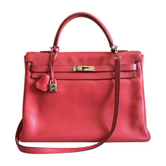 Leather Handbag HERMÈS Kelly Pink, fuchsia, light pink