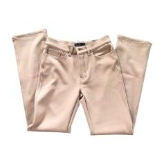 Pantalone dritto FENDI Beige, cammello