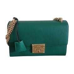 Leather Shoulder Bag GUCCI Green