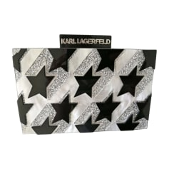 Non-Leather Clutch KARL LAGERFELD Black