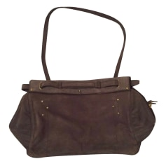 Leather Shoulder Bag JEROME DREYFUSS Gray, charcoal
