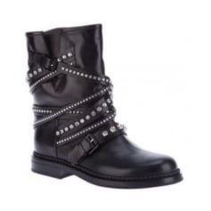 Bottines & low boots motards CASADEI Noir