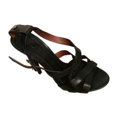 Escarpins à bouts ouverts BURBERRY Noir