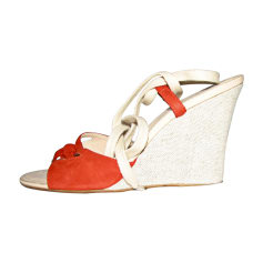 Wedge Sandals TOD'S Red, burgundy