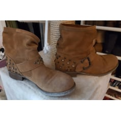 Bottines & low boots motards SAN MARINA Beige, camel