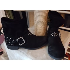 Bottines & low boots motards SAN MARINA Noir