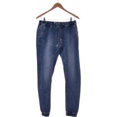 Jeans droit CHRISTINE LAURE Bleu, bleu marine, bleu turquoise