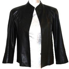 Leather Jacket DKNY Black