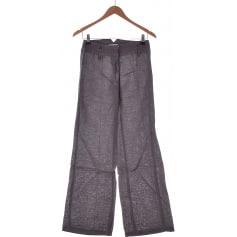 Pantalon droit PROMOD Gris, anthracite
