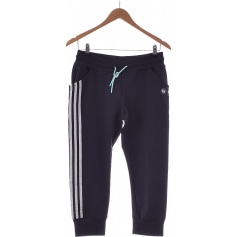 Pantalon droit ADIDAS Bleu, bleu marine, bleu turquoise