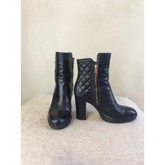 Bottines & low boots à talons PEPEROSA cuir noir 35 hdw7lVz