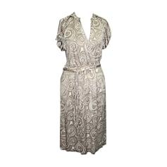Midi Dress HUGO BOSS White, off-white, ecru