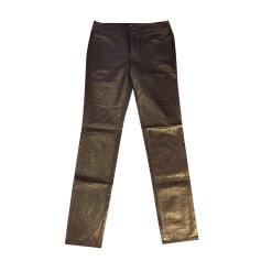 Jeans droit AGNÈS B Doré, bronze, cuivre
