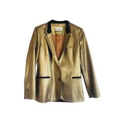 Veste CLAUDIE PIERLOT Doré, bronze, cuivre