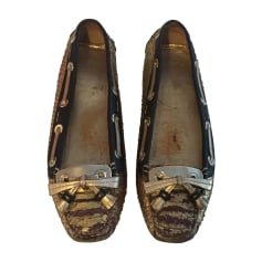Loafers DIOR Golden, bronze, copper