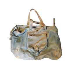 Leather Handbag JEROME DREYFUSS Bleu gris