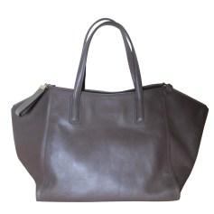 Leather Handbag GERARD DAREL taupe