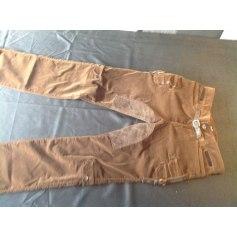 Pantalon droit D&G Marron