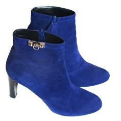 Bottines & low boots à talons HERMÈS Bleu, bleu marine, bleu turquoise
