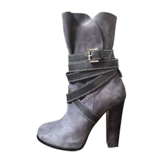High Heel Ankle Boots BARBARA BUI Gray, charcoal