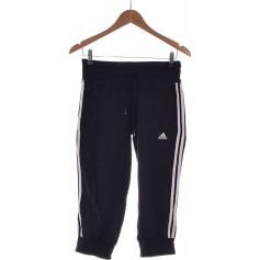 Pantalon droit ADIDAS Noir