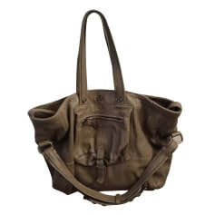 Leather Handbag JEROME DREYFUSS Khaki