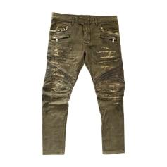 Skinny Jeans BALMAIN Khaki