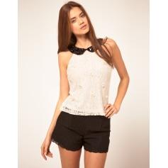 Top, tee-shirt ASOS Blanc, blanc cassé, écru