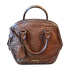 Leather Handbag BURBERRY Brown
