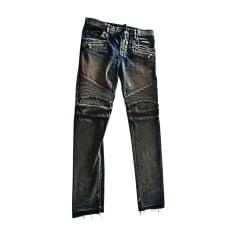 Skinny Jeans BALMAIN Blau, marineblau, türkisblau
