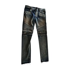 Jeans slim BALMAIN Blu, blu navy, turchese