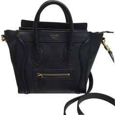 Leather Shoulder Bag CÉLINE Luggage Blue, navy, turquoise