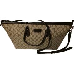 Non-Leather Handbag GUCCI Beige, camel