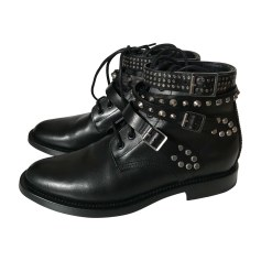 Biker Ankle Boots SAINT LAURENT Black