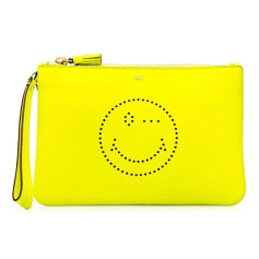 Pochette in pelle ANYA HINDMARCH Giallo