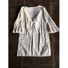 Robe courte ANYA HINDMARCH Blanc, blanc cassé, écru