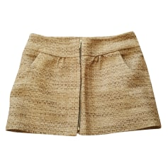 Mini Skirt SÉZANE Beige, camel