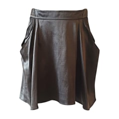 Mini Skirt VANESSA BRUNO Gray, charcoal