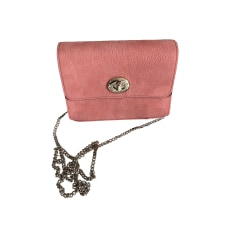 Leather Shoulder Bag COACH Pink, fuchsia, light pink