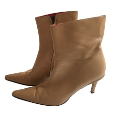 High Heel Ankle Boots FREE LANCE Beige, camel