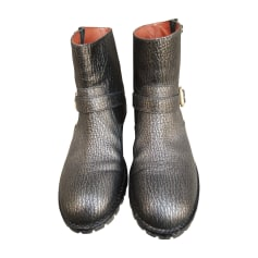 Biker Ankle Boots MARC JACOBS Silver