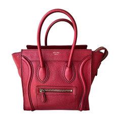 Lederhandtasche CÉLINE Rot, bordeauxrot