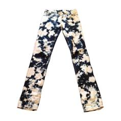 Pantalone dritto ISABEL MARANT Blu, blu navy, turchese