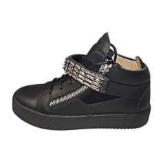 Glisser Sur Chaussures De Sport Pour Les Hommes En Vente, Noir, Cuir, 2017, 40 41 42 Zanotti Giuseppe