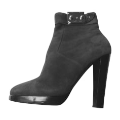 Bottines & low boots à talons HERMÈS Gris, anthracite