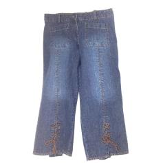 Pantalon large ALAIN MANOUKIAN Bleu, bleu marine, bleu turquoise