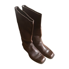 Bottes LOUIS VUITTON Marron