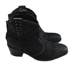 Santiags, bottines, low boots cowboy ATELIER VOISIN Noir