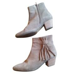 Santiags, bottines, low boots cowboy MINELLI Beige, camel