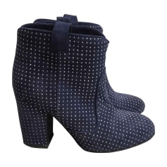 Bottines & low boots à talons LAURENCE DACADE Bleu, bleu marine, bleu turquoise